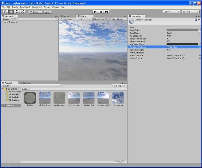 Unity_drag_and_drop_SkyBox_render_settings